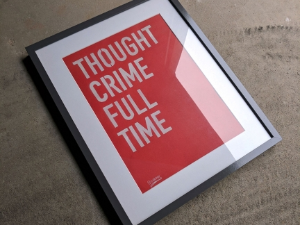 Thought Crime Full Time Stencil